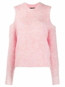 Diesel M-Lara cold-shoulder jumper - PINK