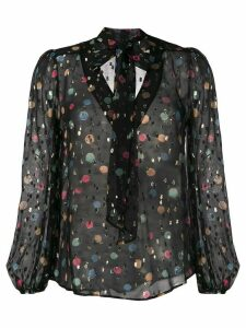 Rixo Moss abstract-print blouse - Black