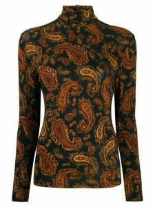 Rokh Paisley Mix roll-neck jumper - Black