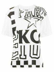 Koché B & W PATCHWORK PRINT TEE-SHIRT - White