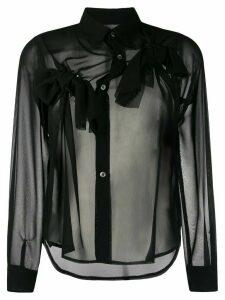 Comme Des Garçons Comme Des Garçons bow detail shirt - Black