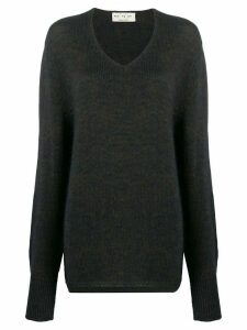 Ma'ry'ya relaxed V-neck jumper - Grey