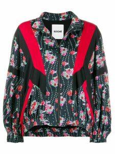 Koché floral patchwork bomber jacket - Black