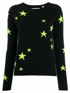 Chinti & Parker cashmere fluorescent star jumper - Blue