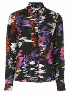 Alice+Olivia abstract-print silk shirt - Black