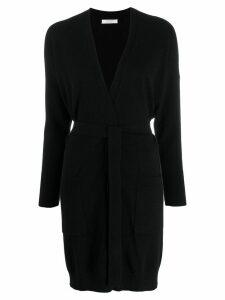 Chinti & Parker longline wrap cardigan - Black