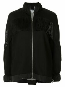 Dice Kayek fringed bomber jacket - Black