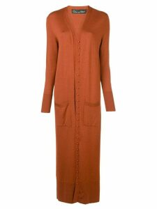 Oscar de la Renta long cardigan - ORANGE