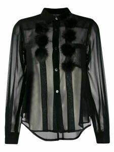 Comme Des Garçons Comme Des Garçons pom pom detail shirt - Black