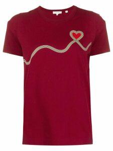 Chinti & Parker heart print T-shirt - Red