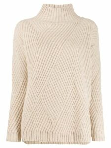 Agnona ribbed pattern jumper - NEUTRALS