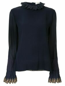 Chloé embroidered trim blouse - Blue