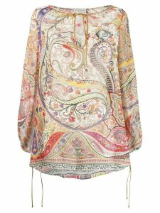 Etro paisley long-sleeve blouse - NEUTRALS