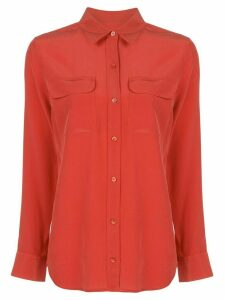 Equipment silk pocketed shirt - ORANGE