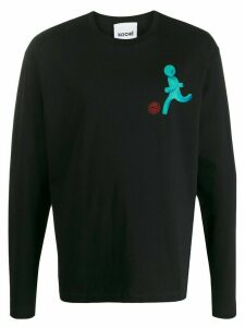 Koché Player graphic long-sleeved T-shirt - Black