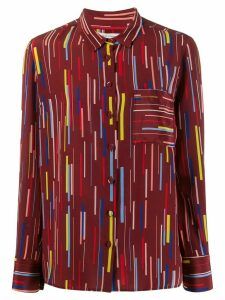 Chinti and Parker stripe print shirt - Red