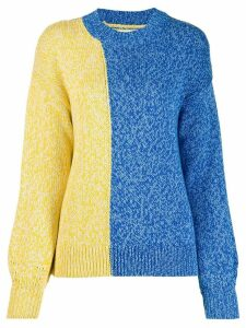 Chinti and Parker two-tone knitted jumper - Blue
