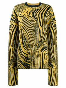 Rokh psychedelic intarsia jumper - Yellow