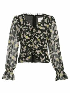 Cinq A Sept Kimberly floral blouse - Black