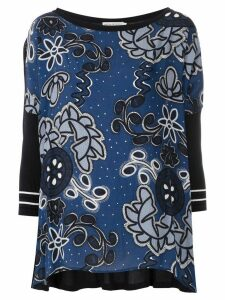 Martha Medeiros Kimora printed knit blouse - Blue