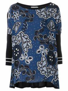 Martha Medeiros Kimora printed knit blouse - Blue