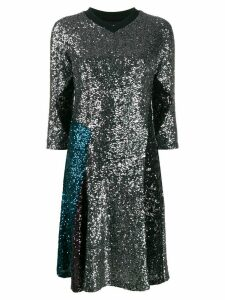 Koché Football Tee Shirt sequin dress - Grey
