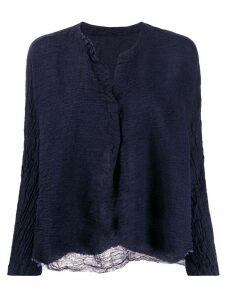 Daniela Gregis long-sleeve flared blouse - Blue