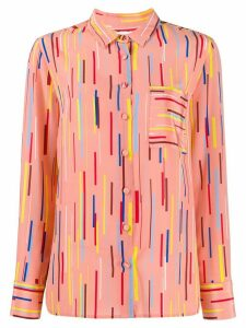 Chinti and Parker stripe print blouse - PINK