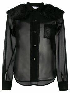 Comme Des Garçons Comme Des Garçons faux-fur panel shirt - Black