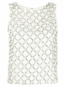 Alice+Olivia Amal embellished top - White
