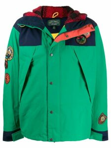 Polo Ralph Lauren contrast stripe puffer jacket - Green