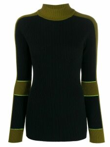 Victoria Beckham two-tone knitted jumper - Blue