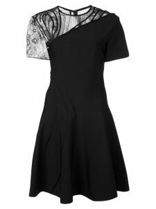 Oscar de la Renta embroidered dress - Black