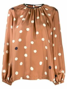 Chinti and Parker loose-fit polka dot blouse - NEUTRALS