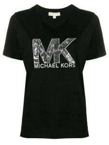 Michael Michael Kors sequin logo T-shirt - Black
