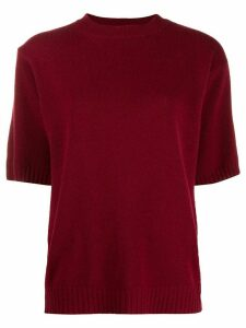 Chinti and Parker ribbed-knit short-sleeve top - Red