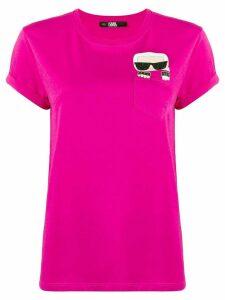 Karl Lagerfeld Ikonik Karl T-shirt - PINK