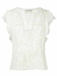 Martha Medeiros lace tunic - White