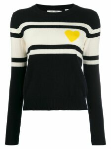 Chinti & Parker striped heart jumper - Blue