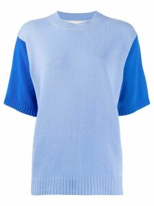 Chinti and Parker ribbed-knit two-tone top - Blue