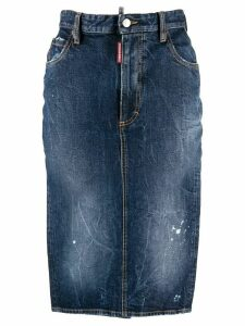 Dsquared2 denim pencil skirt - Blue