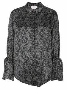 Cinq A Sept Elisia floral jacquard blouse - Black