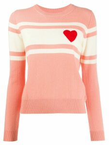 Chinti & Parker knitted heart striped jumper - PINK