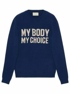 Gucci My Body My Choice jumper - Blue