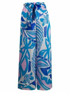 Emilio Pucci abstract print palazzo trousers - Blue
