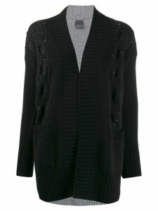 Lorena Antoniazzi stud detail multi-knit cardigan - Blue