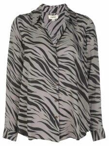 L'Agence Zebra printed shirt - Black