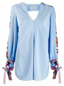 Emilio Pucci printed panels blouse - Blue