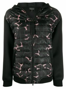 Emporio Armani camouflage print puffer jacket - Black