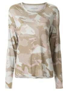Zadig & Voltaire Willy camouflage-print top - Multicolour
